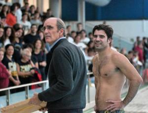 Peter Cutino, con Víctor Calderón