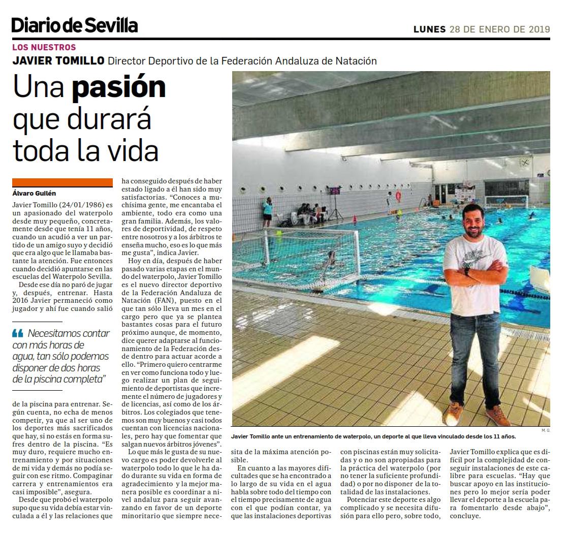 Diario de Sevilla 2019-01-28 Javier Tomillok