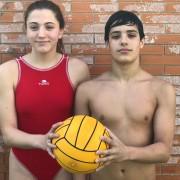 Lola Muñoz y Adrián Rodriguez, los infantiles del Waterpolo Sevilla Grupo Ceres en la selección andaluza