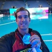 Miguel de Toro, con la plata del Mundial 2019