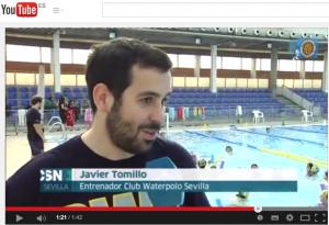 Reportaje Canal Sur Noticias - Colaboración de Club Waterpolo Sevilla Emasesa con el Colegio Matadero